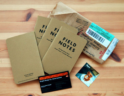 Field Notes in the mail